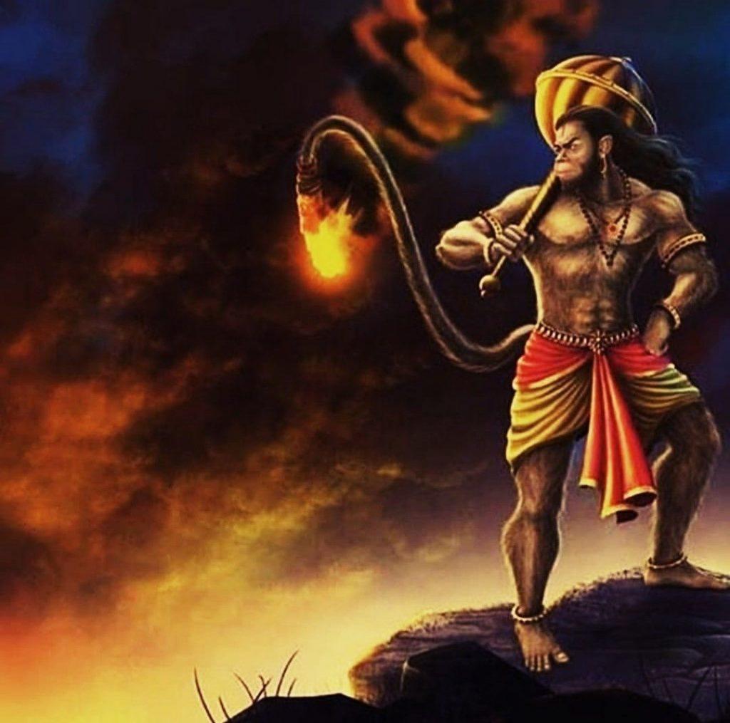 Hanuman Ji : Lanka Dhahan Wall paper