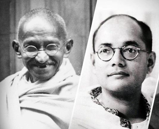 subhash chandra bose and mahatma gandhi
